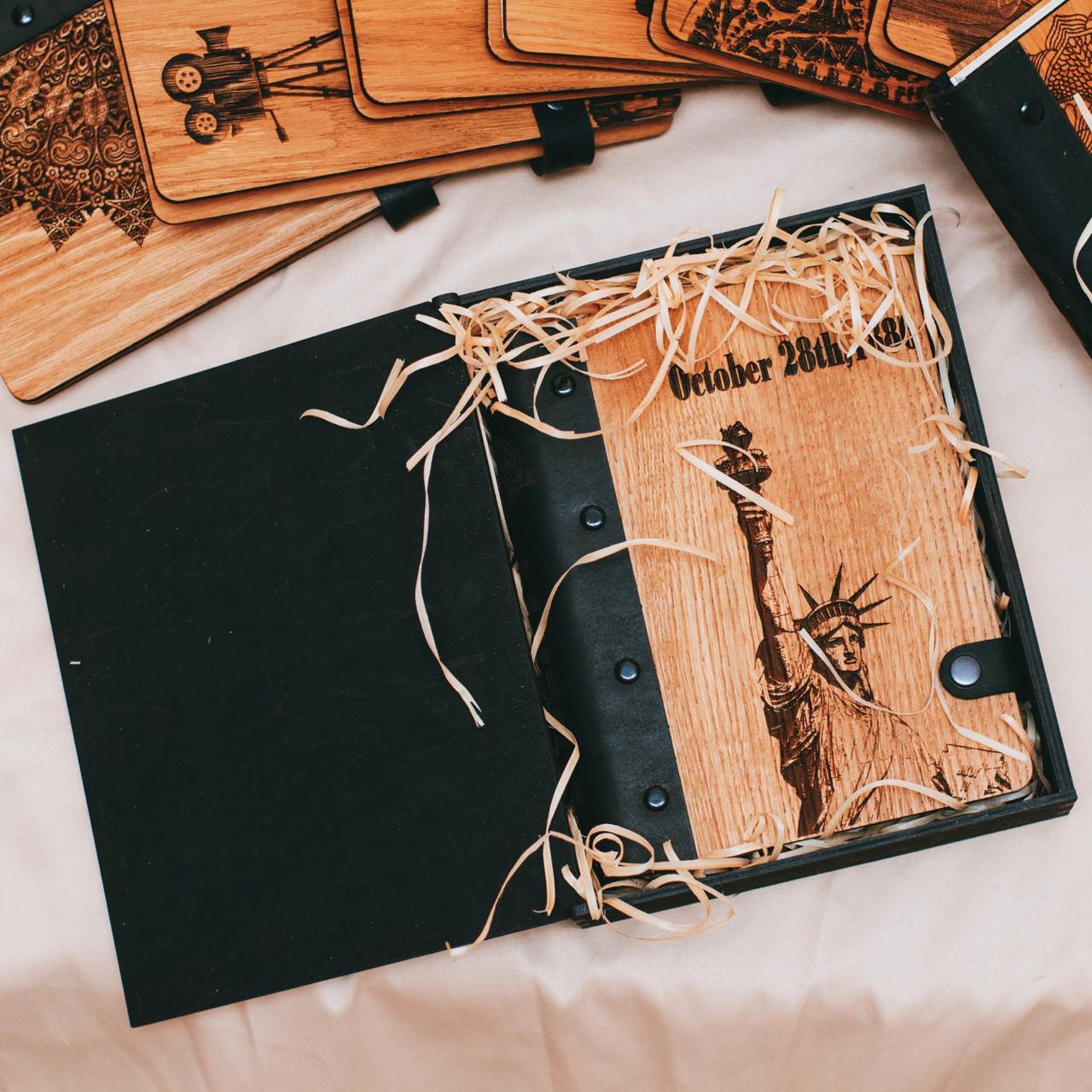 oakbook, блокноты из дерева, деревянные блокноты